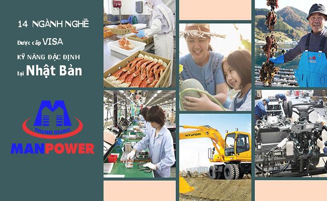 14 ngành nghề kỹ năng đặc định chính thức tại Nhật Bản