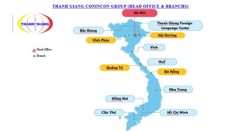 Hệ thống các chi nhánh của Thanh Giang