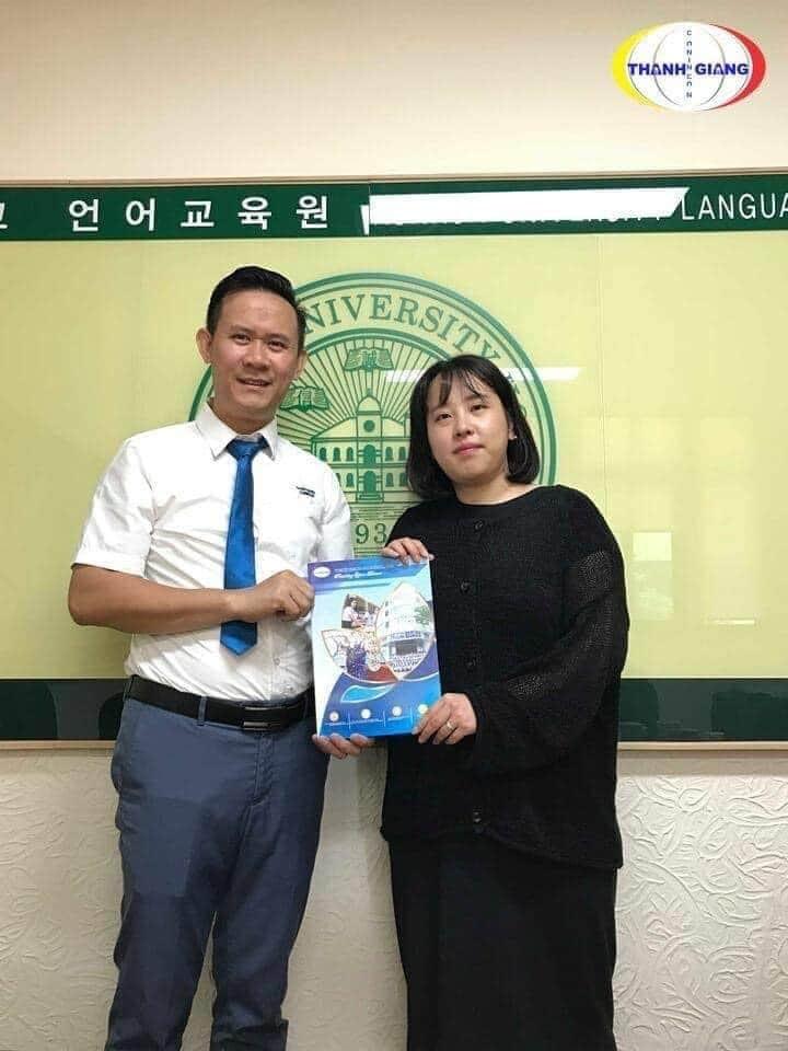 giao lưu trực tiếp với nhà trường tại Hàn Quốc