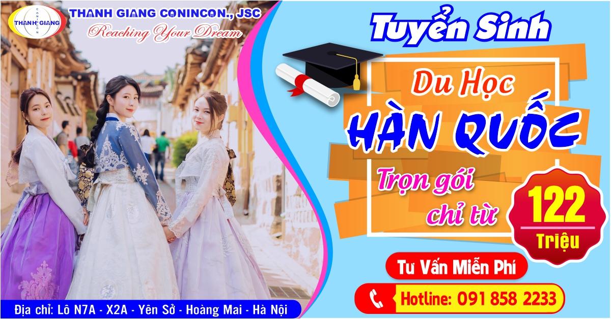 Tuyển sinh du học Hàn Quốc – kỳ tháng 3/2021 – Du học Thanh Giang