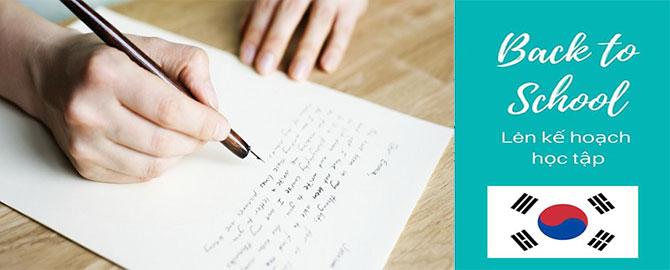 Hướng dẫn viết Bản kế hoạch học tập du học Hàn Quốc đầy đủ