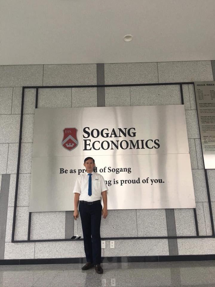Thanh Giang có dịp ghé thăm dại học Sogang
